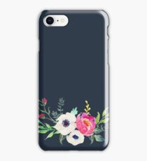 Anemone Peony Watercolor Bouquet iPhone Case/Skin