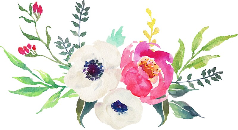 Quot Anemone Peony Watercolor Bouquet Quot Stickers By Junkydotcom