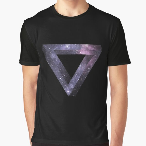 Space Penrose Triangle Graphic T-Shirt