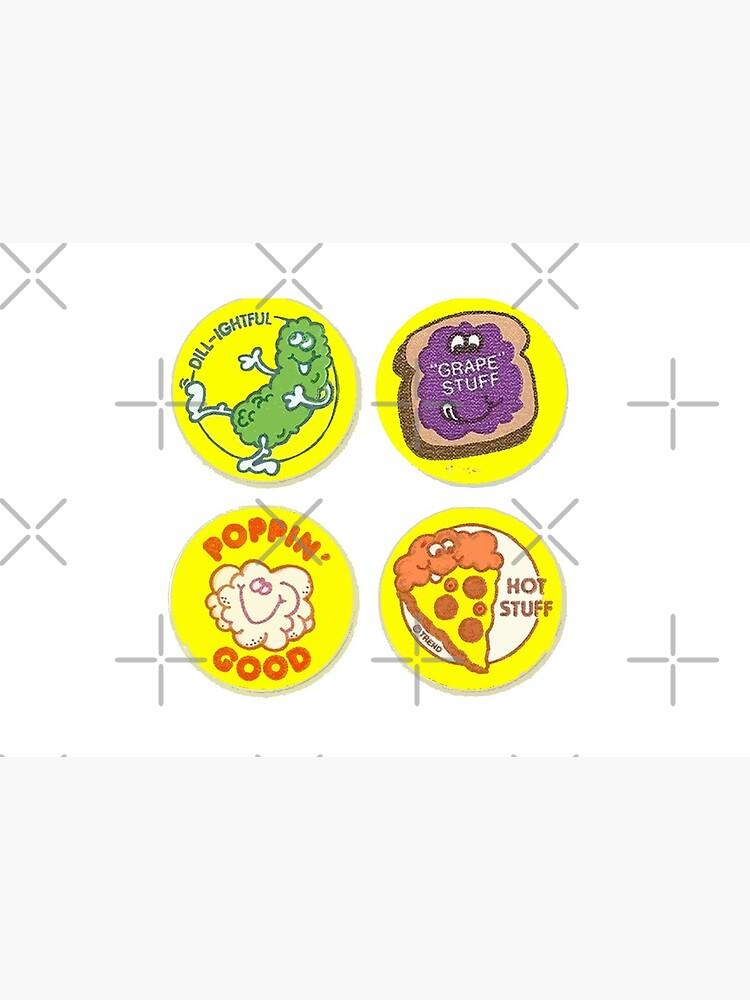 4 x Retro Scratch 'N Sniff Stickers by tnewton69