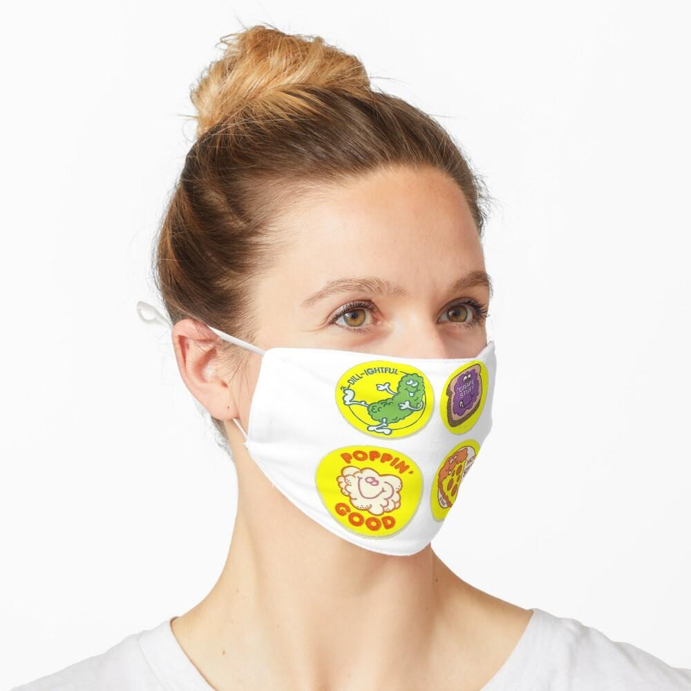 4 x Retro Scratch 'N Sniff Stickers Mask