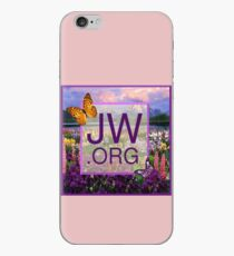 JW.ORG Logo With a Meadow Full of Flowers iPhone Case