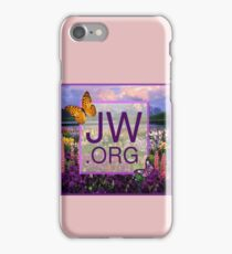 JW.ORG Logo With a Meadow Full of Flowers iPhone Case/Skin