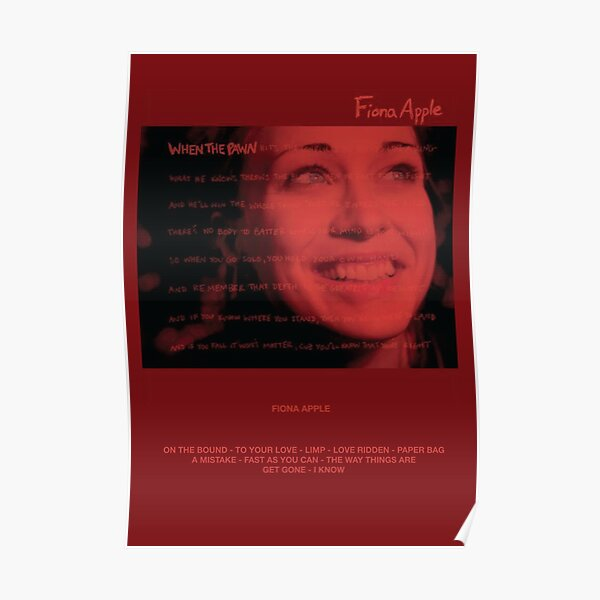 Fiona Apple 2: WTP Poster