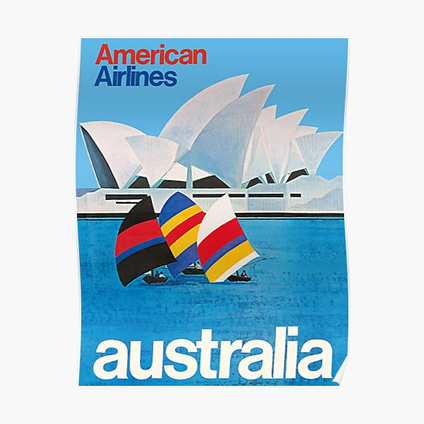 Vintage Australia - American Airlines poster Poster