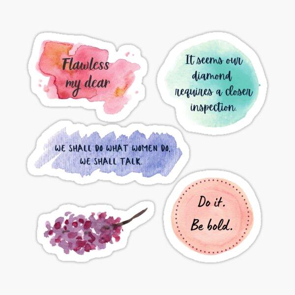 Bridgerton quotes 5 pieces sticker pack sticker set Sticker