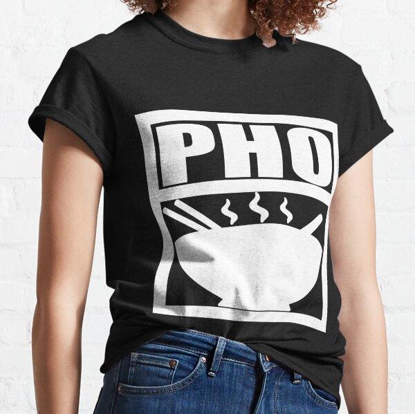 Pho White print Classic T-Shirt