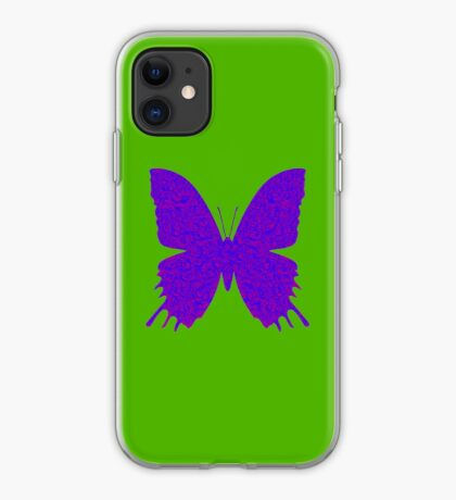 #DeepDream Purple Violet Butterfly iPhone Case
