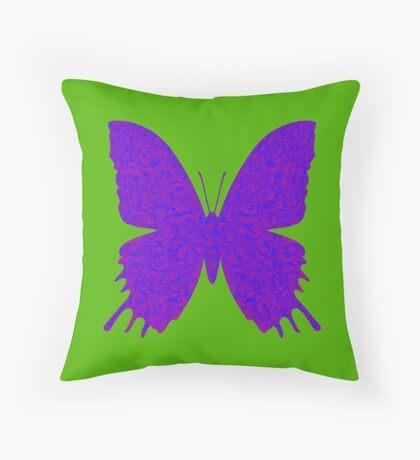 #DeepDream Purple Violet Butterfly Throw Pillow
