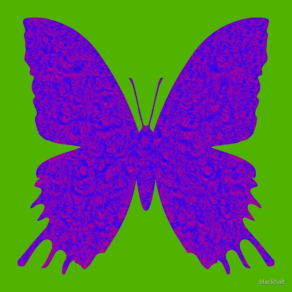 #DeepDream Purple Violet Butterfly by blackhalt