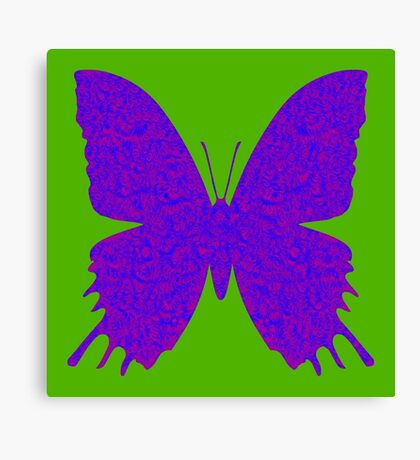 #DeepDream Purple Violet Butterfly Canvas Print