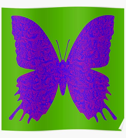 #DeepDream Purple Violet Butterfly Poster
