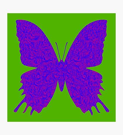 #DeepDream Purple Violet Butterfly Photographic Print