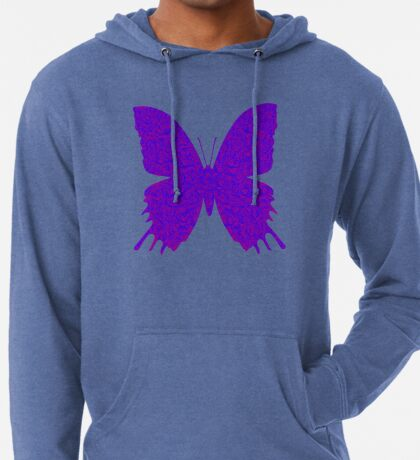 #DeepDream Purple Violet Butterfly Lightweight Hoodie