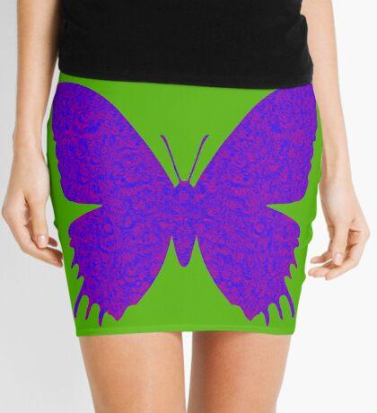 #DeepDream Purple Violet Butterfly Mini Skirt