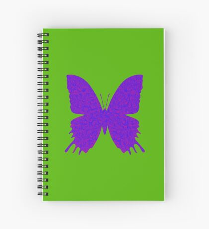 #DeepDream Purple Violet Butterfly Spiral Notebook