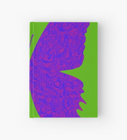 #DeepDream Purple Violet Butterfly Hardcover Journal