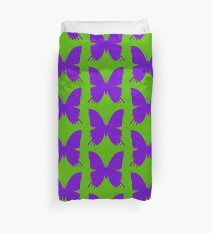 #DeepDream Purple Violet Butterfly Duvet Cover