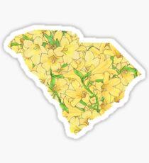 South Carolina Flowers Sticker