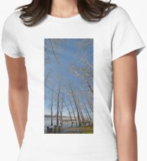 river water trees snow T-Shirt