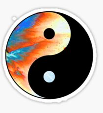 YIN YANG FIRE Sticker