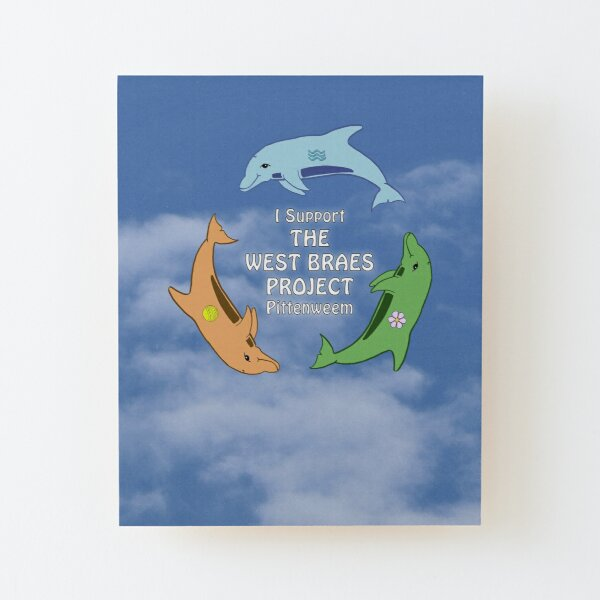 I Support the West Braes Project by Moti for the West Braes Project Wood Mounted Print