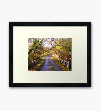 Take me Home, Country Road Framed Print