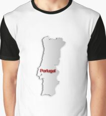 Map of Portugal Graphic T-Shirt