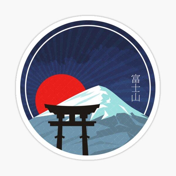 Japanese Mt. Fuji sunset Sticker
