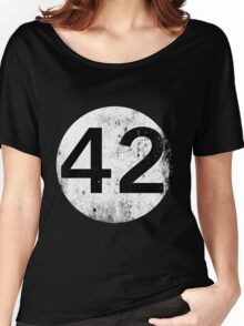 42 - Black Circle Women's Relaxed Fit T-Shirt
