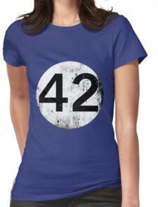 42 - Black Circle Womens Fitted T-Shirt