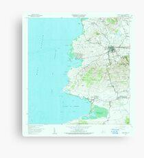 USGS TOPO Map Puerto Rico PR Puerto Real 362205 1966 20000 Canvas Print