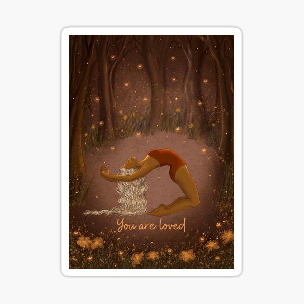You are loved Valentine night dancer art Sticker