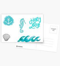 Beachy Tumblr Stickers 2 Postcards
