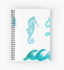 Beachy Tumblr Stickers 2 Spiral Notebook