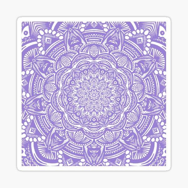 Purple Mandala Design // Ethnic Tribal Aztec Detailed Textured Mandala Pattern Sticker