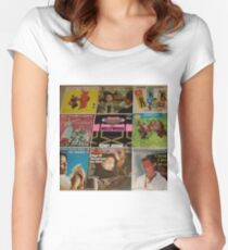 Vintage Records Collection 1A Women's Fitted Scoop T-Shirt