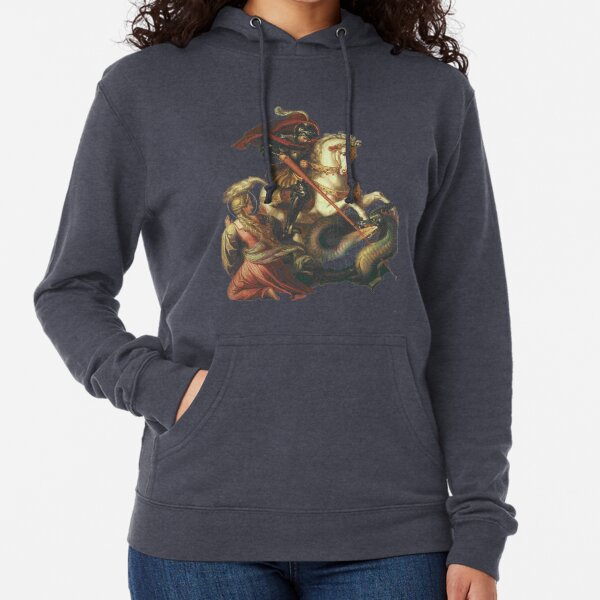 St George with Dragon, by Carl Joseph Begas Lightweight Hoodie