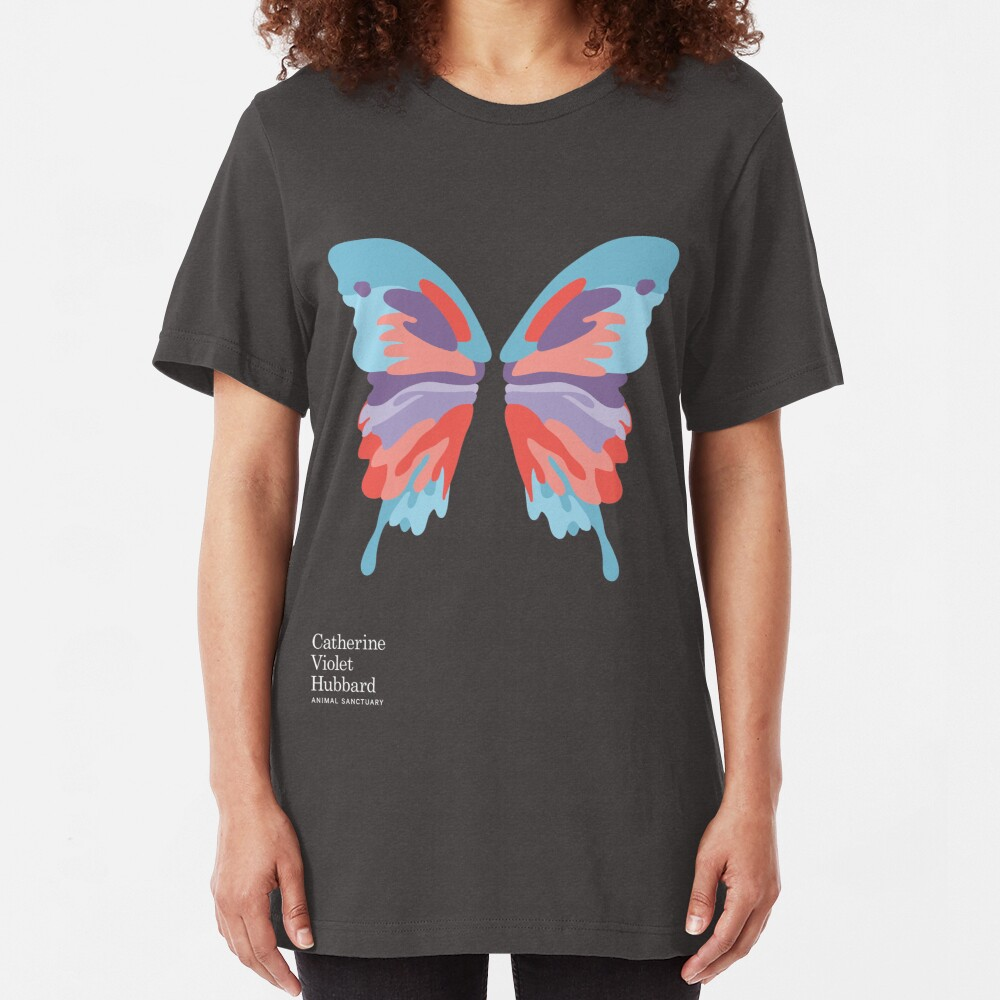 Catherine's Butterfly - Dark Shirts Slim Fit T-Shirt