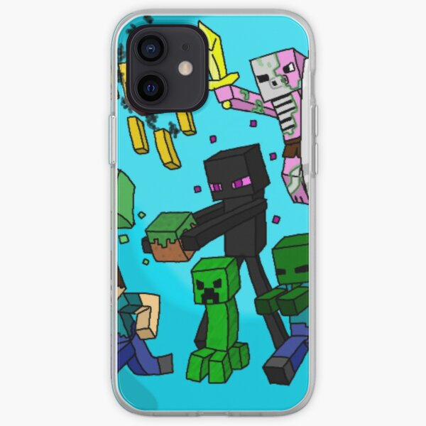 Minecraft crew characters mobs iPhone Soft Case