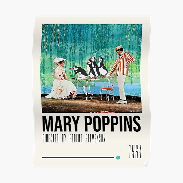 Mary Poppins Art Movie Poster Poster