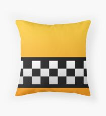Taxi squares and stripes  Throw Pillow