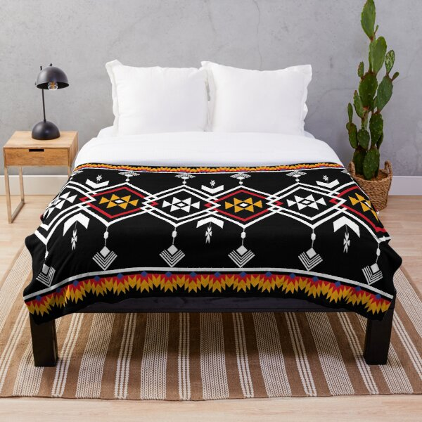 Ethnic navajo classic pattern seamless Throw Blanket