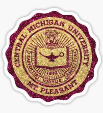 Central Michigan Glitter Seal Sticker