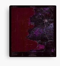 USGS TOPO Map Puerto Rico PR Puerto Real 362203 1966 20000 Inverted Canvas Print
