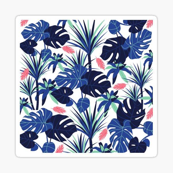 Bold Blue Foliage Sticker