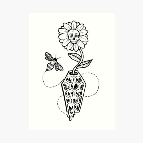 Honeycomb Coffin: Memento Mori Art Print