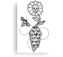 Honeycomb Coffin: Memento Mori Canvas Print
