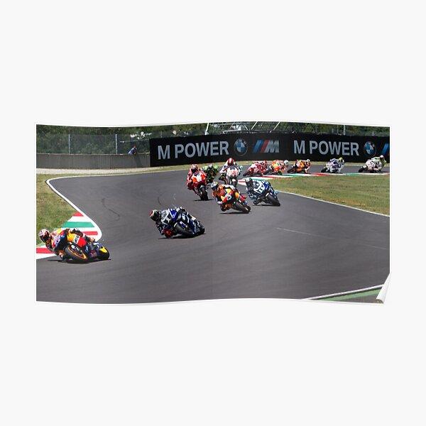 Début de la course MotoGP Mugello 2011 Poster