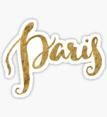 Golden Look Paris Sticker